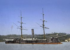 The CSS Stonewall Jackson, rechristened the Azuma in the Japanese fleet, was in her later career the nucleus of the Japanese steam navy.  Circa 1888.