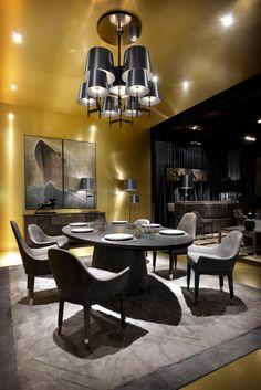 Dining Room - Black elegance with interior details