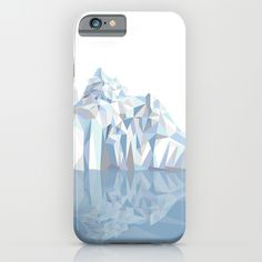 Iceberg iPhone & iPod Case Our Slim Cases are constructed as a one-piece, impact resistant, flexible plastic hard case with an extremely slim profile. Simply snap the case onto your phone for solid protection and direct access to all device features. #geometric Iceberg, #geo, #geometric, #triangle
