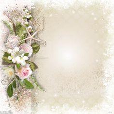 Off White Flower Frame Rose Frame, Flower Frame, Frame Background, Paper Background, Wedding Paper, Wedding Cards, Pretty Backrounds, Birthday Background Design, Molduras Vintage
