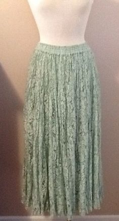NWT Mint Lace AUGUST MAX WOMAN Lined Full Skirt Size 1X #AUGUSTMAXWOMAN #FullSkirt