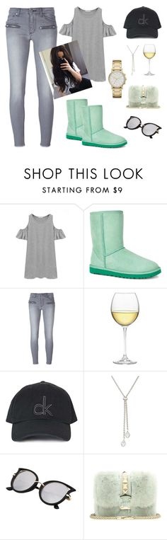 """Lazy weekend"" by melodysk ❤ liked on Polyvore featuring Chicnova Fashion, UGG Australia, Zadig & Voltaire, Nordstrom, Topshop, de Grisogono, Valentino and DKNY"