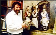 "Eric Hebborn, art forger, created ""original"" masterpieces by Corot, Rubens, Jan Breughal, and many other old masters - over 500 between 1978-88.  Murdered 1996."