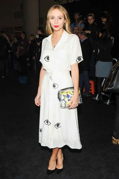 Fashion Move: Strange prints Style Insider: Harley Viera-Newton Why they don't get it: Yes those are eyes/newts/cabbages/microwaves all over this dress. What about it?