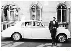 A very Bond like groom with a beautiful vintage car  www.catherineohara.com  English speaking wedding and engagement photographer based in Paris, France