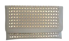 "Chicastic Patterned Patent Leather Evening Casual Envelope Clutch Purse - Grey. Envelope Clutch. Detachable Chain Attached. Measures - L - 8"", H - 5"", W - 1"". **Official CHICASTIC product made and sold exclusively by Chicastic.** Products sold by other sellers may vary. Please check seller before checking out."