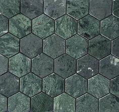 Grønn marmor fra Ulfven 5cm Hexagon