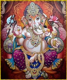 Make this Ganesha Chathurthi 2020 special with rituals and ceremonies. Lord Ganesha is a powerful god that removes Hurdles, grants Wealth, Knowledge & Wisdom. Shiva Art, Krishna Art, Hindu Art, Ganesh Images, Ganesha Pictures, Lord Ganesha Paintings, Lord Shiva Painting, Indian Gods, Indian Art