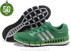 Officiel Adidas 2016 - Adidas Climacool Chaussures ArgentéEs Vertes 5 Amants (Jogging Adidas Pas Cher)