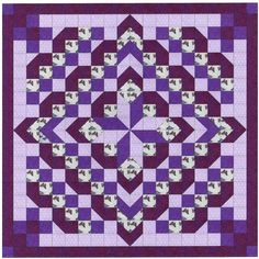 Easy Quilt Kit/Faceted Star/Purples!!/Pre-cut Fabrics Ready To Sew!