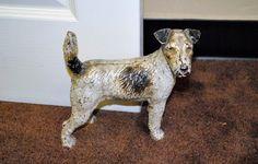 Vintage Hubley Fox Terrier Doorstop