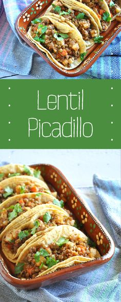 Lentil Picadillo is a Vegan take on the classic Mexican picadillo. It's easy, hearty, and very satisfying. Perfect for Taco Tuesday! Gluten-free too!