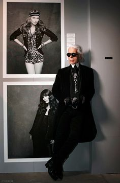 Karl Lagerfeld. The dapper king of chic.