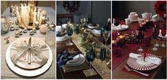 Idei colorate pentru decorarea mesei de Craciun Table Settings, Place Settings, Tablescapes