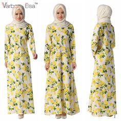 Muslim Dress, Islamic Clothing, Yellow Print, Abayas, Printing, China, Fresh, Bridal, Clothes For Women