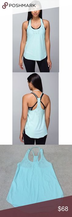 Lululemon. Water Bound Singlet. Aquamarine. Excellent condition!    no trades ✖️ no holds  offers considered through the offer button ♻️ if it's listed, it's available lululemon athletica Tops Tank Tops