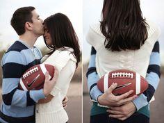 Engagement Shoots   Touchdown! Football-Themed Weddings - Yahoo Shine