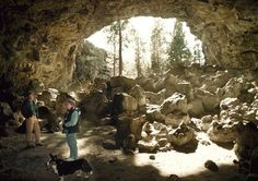 Hidden Forest Cave, one of many lava tubes outside Bend