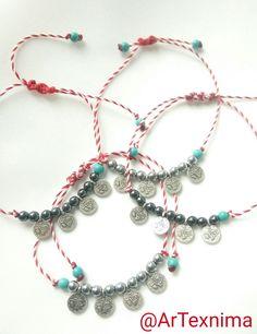 March bracelets Macrame Bracelets, Gemstone Jewelry, Jewerly, Diy And Crafts, Beaded Necklace, March, Jewelry Making, Gemstones, Beads
