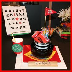 Back-To-School gifts.  Back-To-School place setting!!! #PicMonkeySmarts #EDUspin