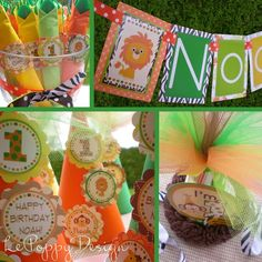 Jungle Birthday Party Decorations Safari by PartyOnPurposeShop Safari Theme Birthday, 1st Birthday Parties, Birthday Party Decorations, Birthday Ideas, Jungle Party, Safari Party, Baby Party, First Birthdays, Party Time