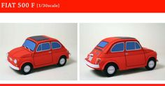 Papercrafts Fiat 500 (x Fiat 600, Angry Birds, Hatsune Miku, Power Rangers, Party Like Its 1999, Paper Car, Paper Towns, Printable Paper, Free Printable