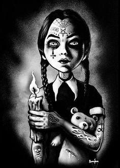 Satanic Wednesday Addams