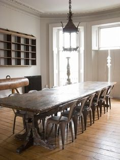 XXL antique old table - wood - dining room - Alex MacArthur Interiors