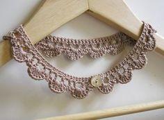 crochet jewelry patterns crochet_necklace_making_spot free pattern, thanks so for share xox https:// Crochet Collar Pattern, Col Crochet, Crochet Necklace Pattern, Crochet Jewelry Patterns, Simply Crochet, Crochet Bracelet, Crochet Accessories, Crochet Earrings, Crochet Chocker