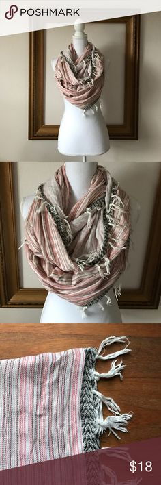 Vince Camino lightweight red/black infinity scarf In perfect condition. Super soft. Great delicate look. Vince Camuto Accessories Scarves & Wraps