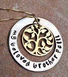 memorial necklace rememberance necklace tree of by natashaaloha, $59.00