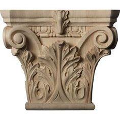 Buy Ekena Millwork9.625-in x 11.52-in x 3.75-in Stain Grade Interior/Exterior Maple Decorative Capital Accen in Cheap Price on m.alibaba.com
