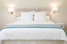 Something about a white bed