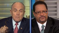Former New York Mayor Rudy Giuliani and Georgetown Professor Michael Eric Dyson got into a heated exchange over policing in black communities Sunday morning ...