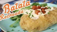Batata Recheada com Frango e Bacon - Cozinha pra 1 - YouTube