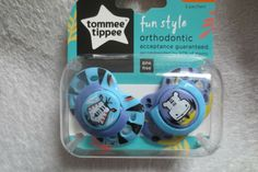 Air Style Orthodontic Silicone soothers from TommeeTippee Age 6-18m Unisex Bpa Free clear