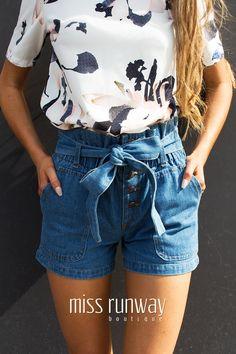 Miss Runway Fashion - Get Down Denim Shorts