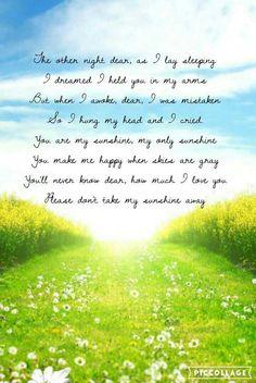 You are my sunshine lyrics by Francis Plotke