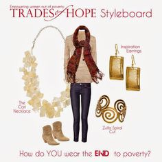 Empower women out of poverty by purchasing any of these beautiful accessories at mytradesofhope.com/briannehogan