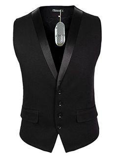 Zicac Men's Gentleman Top Design Casual Waistcoat Business Suit Vest Indian Men Fashion, Mens Fashion Wear, Men's Fashion, Ropa Semi Formal, Indian Groom Wear, Men's Waistcoat, Mens Overcoat, Suit Vest, Dress Vest