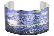 STAINLESS STEEL CUFF INSPIRED BY STARRY NIGHT BY TATTOOED STEEL