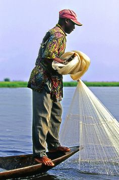 fishing, Benin.