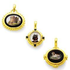 Elizabeth Locke 19th-century Micromosaic Pendant | Veranda Jewelry Vero Beach