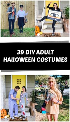 39 DIY Adult Halloween Costumes - C.R.A.F.T. Original Halloween Costumes, Pregnant Halloween Costumes, Pregnancy Costumes, Couple Halloween Costumes For Adults, Homemade Halloween Costumes, Adult Halloween, Funny Halloween, Fall Halloween, Halloween Makeup