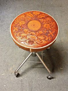 Leather Stool | Vintage-SR