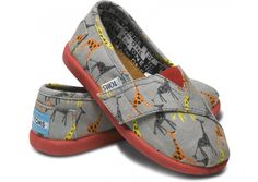 AHHHHHH! Baby TOMS! With Giraffes on them! :)