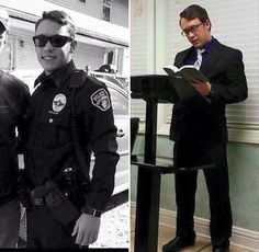 Jehovah can change your life! Former Police Officer giving his first talk at a Kingdom Hall.
