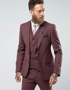 Mens Red Suit, Mens Suits, Mens Skinny Fit Suits, Burton Menswear, Savile Row, Super Skinny, Suit Jacket, Mens Fashion, How To Wear