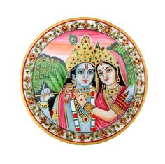 This hand crafted Plate contains intricate artwork that is done without using any mold. This Plate reflects the immense concentration & creativity of our craftsmen, Marble Pillar, Marble Wall, White Marble, Radha Krishna Images, Krishna Art, Radhe Krishna, Marble Plates, Marble Painting