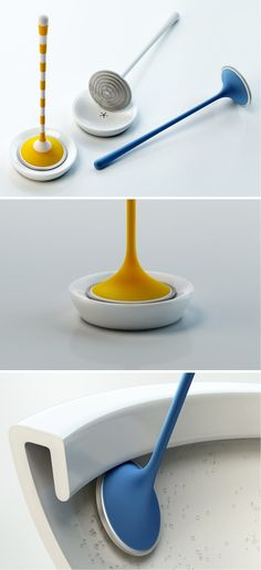 The Yosh toilet brush is a redesigned version of the old, clinical looking brush.
